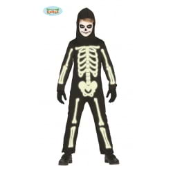 DISFRAZ GLOW IN THE DARK SKELETON INFANTIL TALLA 3-4 AÑOS